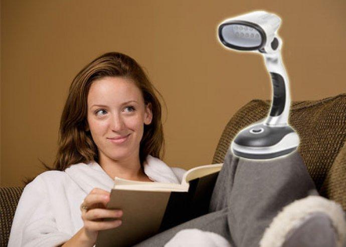 Íróasztalod elengedhetetlen kelléke - állítható fejű, összecsukható, 12 LED-es, elemes asztali lámpa