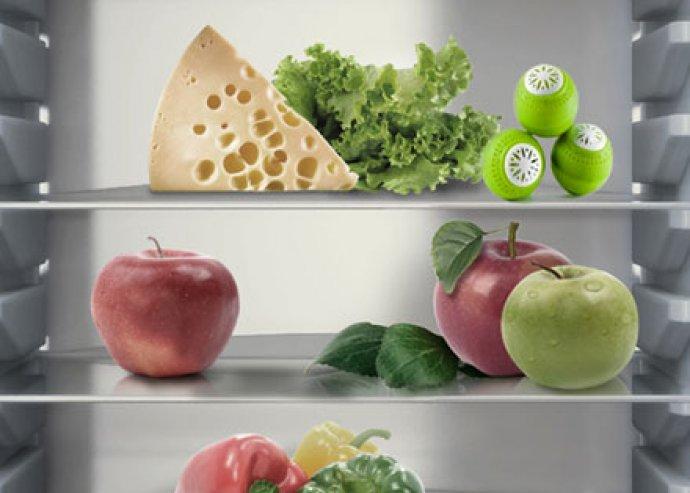 Rendkívüli megoldás az ételszagok ellen - 3 db, káliumot tartalmazó, hűtő frissentartó golyó