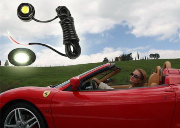 Egyediség, nagyobb biztonság - 2 db, ultra erős, hideg fehér színű, LED-es autós nappali fény