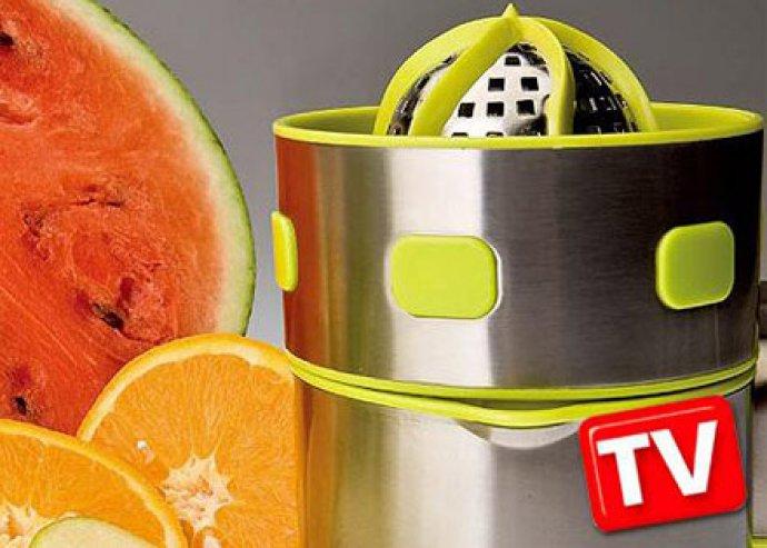 Élj egészségesen! Csúcsminőségű, rozsdamentes acélból készült, Pro Perfect Juicer - kézi gyümölcsfacsaró