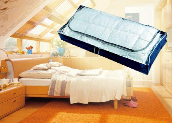 Rejtett lehetőségek! Cipzáras ágy alatti tároló, amely védelmet nyújt a por, piszok és molylepkék ellen!