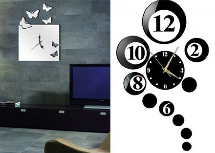 Különleges órák egy modern lakásban! Különböző stílusú tükrös faliórák a legújabb divat szerint formázva