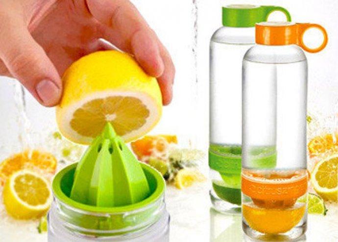 Kísérletezz saját ízlésednek megfelelően! Citrus Zinger 0,75 literes kulacs és facsaró, strapabíró műanyagból
