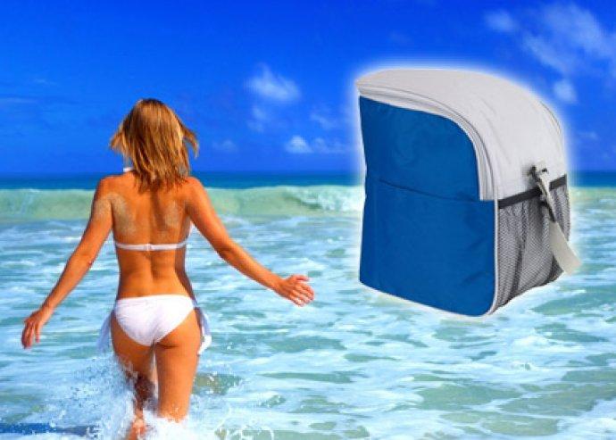 Felkészültél már a nyárra? Praktikus, könnyen hordozható vállpántos hűtőtáska, külön zsebekkel