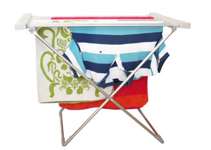 Praktikus, gazdaságos, helytakarékosan tárolható, korszerű, elektromos ruhaszárító