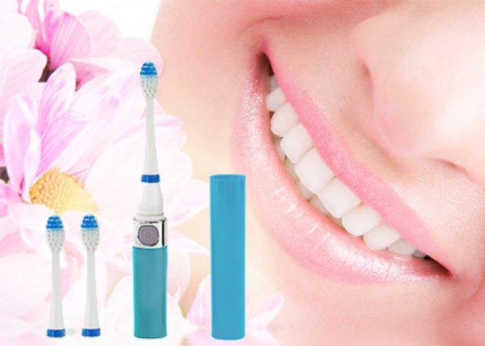 A gyönyörű fogakért - praktikus, elektromos, ultrahangos fogkefe 2 cserélhető fejjel