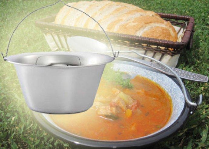 Tálalj alkalomhoz illően - 0.75 literes rozsdamentes asztali bogrács szett, bármilyen leveshez vagy pörkölthöz