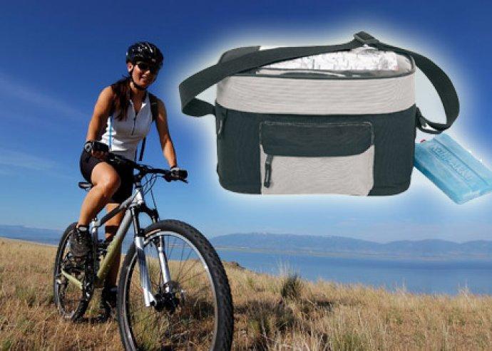 Vízhatlan, vállra is akasztható, cipzáros és első zsebes kerékpáros kormánytáska térképtartóval
