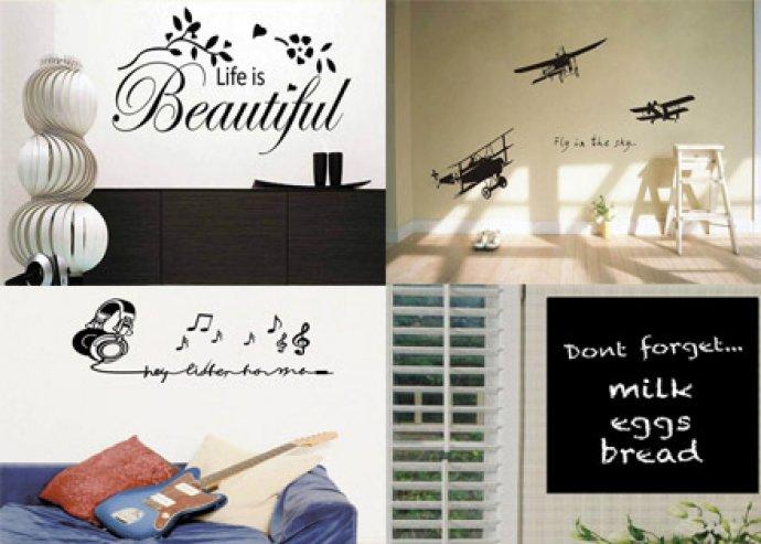 Különleges, választható szöveges, óriás falmatrica dekoráláshoz, tükörre, szekrényre vagy falra