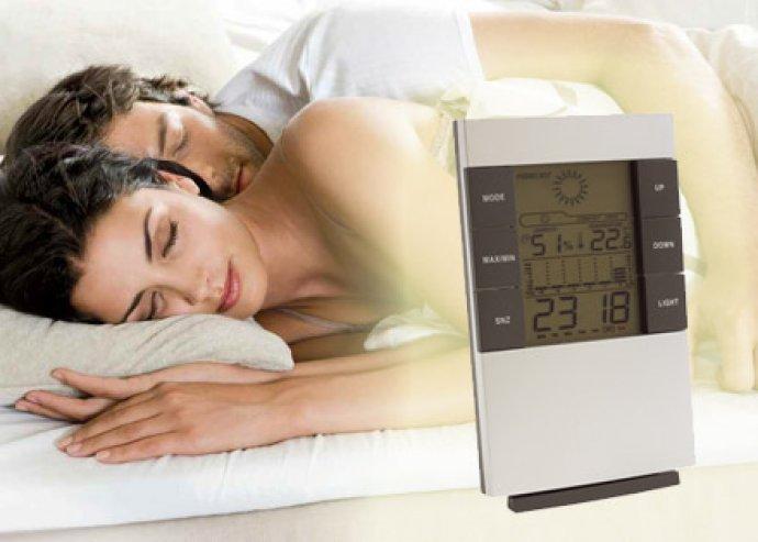 Jókedvű ébredések - többfunkciós, érintésre kivilágosodó, LCD kijelzős ébresztőóra, idő és dátum kijelzéssel