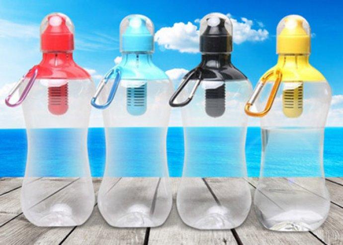 Egy lépés az egészség felé - hordozható szénszűrős vizes palack sportoláshoz, utazáshoz, 2 választható színben
