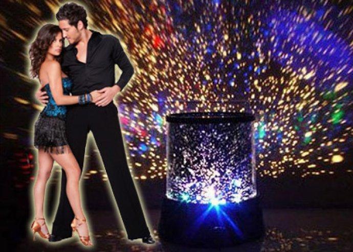 Romantikus, különleges hangulatot adó, egyedi dizájnú, dekoratív, projektoros LED csillaglámpa