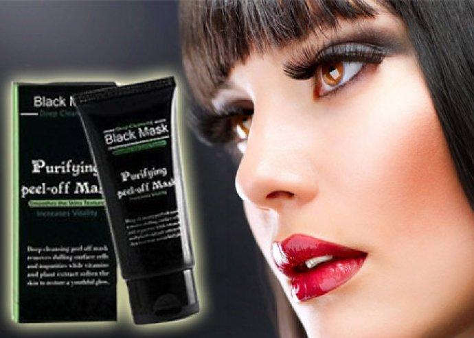Erős tisztító hatású, 50 ml-es Black Mask mitesszereltávolító, lehúzható maszk az üde, friss bőrért