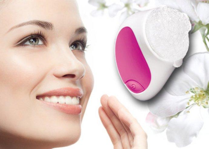 Fantasztikus tisztító hatású, vibráló arcápoló készülék masszázsfejjel, 12 koronggal a ragyogó arcbőrért