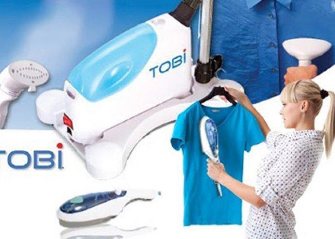 Nincs többé gyűrött ruha -  könnyű, hordozható Tobi Travel Steamer gőzölős vasaló és tisztító