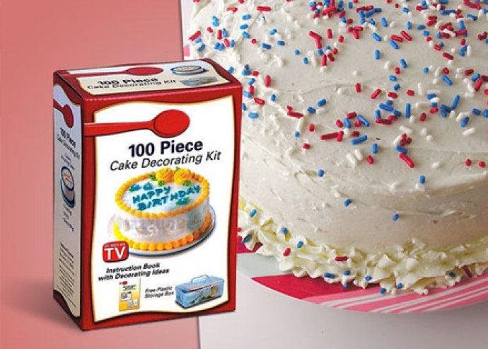 Sütésre fel! 100 részes tortadekoráló készlet izgalmas formázó és díszítő eszközökkel + zárható doboz