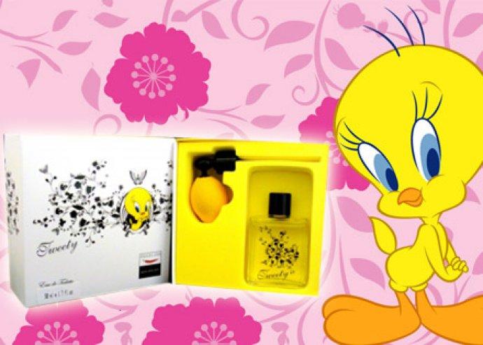 Kellemes és könnyed nyári illat - Tweety EDT parfüm pumpás szórófejjel, több kiszerelésben, díszdobozban