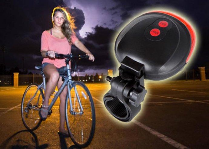 Jobb láthatóság, biztonságosabb közlekedés – szupererős fényű, modern, lézeres biciklilámpa