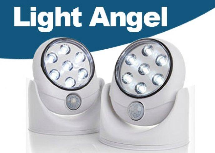 Light Angel energiatakarékos, vezeték nélküli, mozgásérzékelős LED lámpa kül- és beltéri használatra