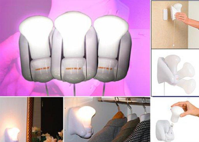 Bárhol bevethető fényforrás - 8 db Handy Bulb vezeték nélküli lámpa, speciális, safe-touch borítással