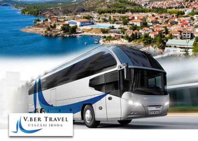 Csobbanás a nyárba! 5 nap 4 éjszaka horvát körutazás, reggelivel, 1 fő részére, luxus busszal