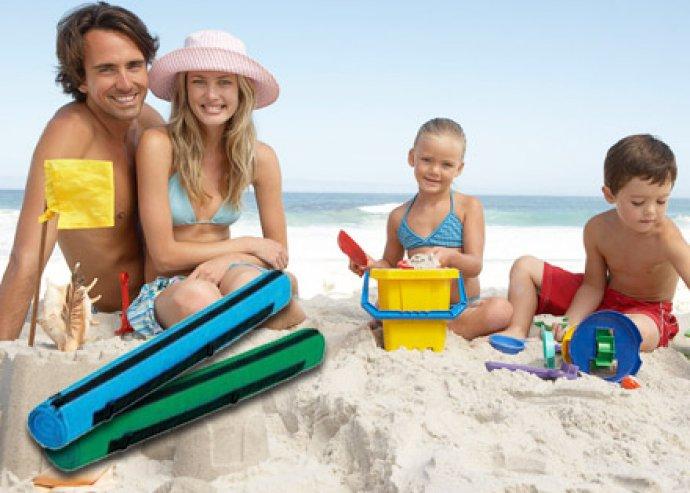 Tökéletes vízparti kellék - strand gyékény praktikus, cipzáros tokkal, 5-féle vidám színben
