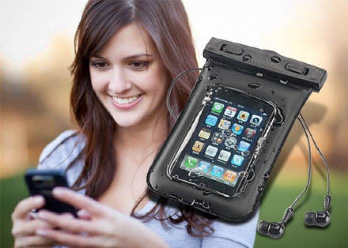 Extrém védelem - vízálló, univerzális telefontok fülhallgatóval és praktikus nyakbaakasztóval