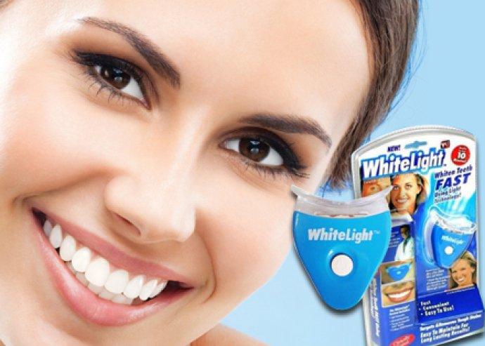 Legyenek olyan hófehér fogaid, akár egy világsztárnak! White light praktikus otthoni fogfehérítő készlet