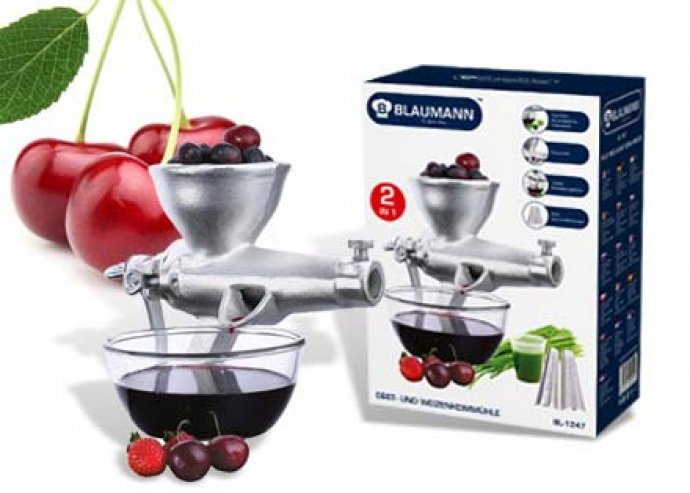 Táplálkozz egészségesen otthon is! Asztalhoz rögzíthető, egyszerűen használható gyümölcs és búzacsíradaráló