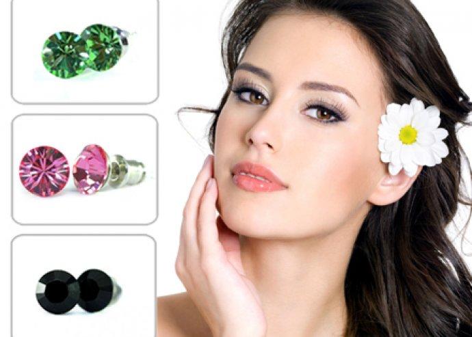 Trendi csillogás - elegáns és egyben divatos Swarovski Elements kristály fülbevaló, ragyogó színekben