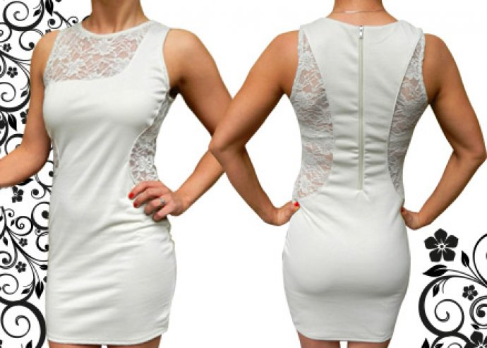 Trendi, nyári csipkés ruha bármilyen alkalomra, bézs színben – kényelmes, mégis nőies viselet!