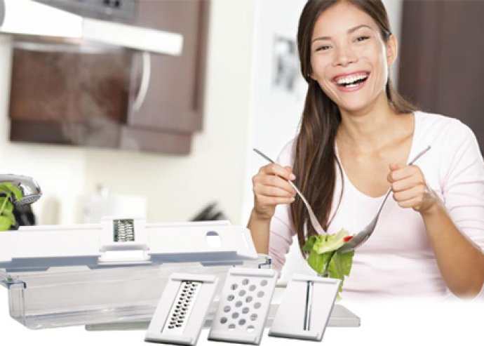 7 részes univerzális zöldség- és gyümölcsszeletelő – praktikus és hasznos társ a konyhában