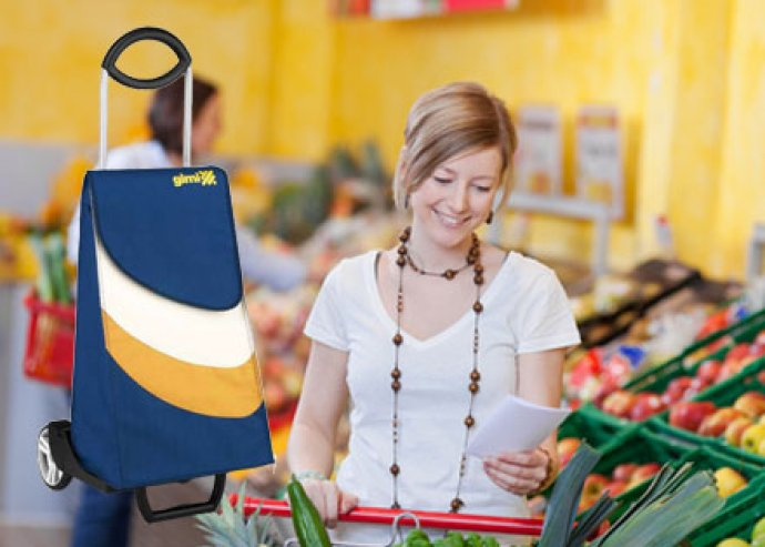 Jól pakolható, strapabíró Easy Go húzós bevásárlókocsi több színben, a könnyed vásárlás érdekében