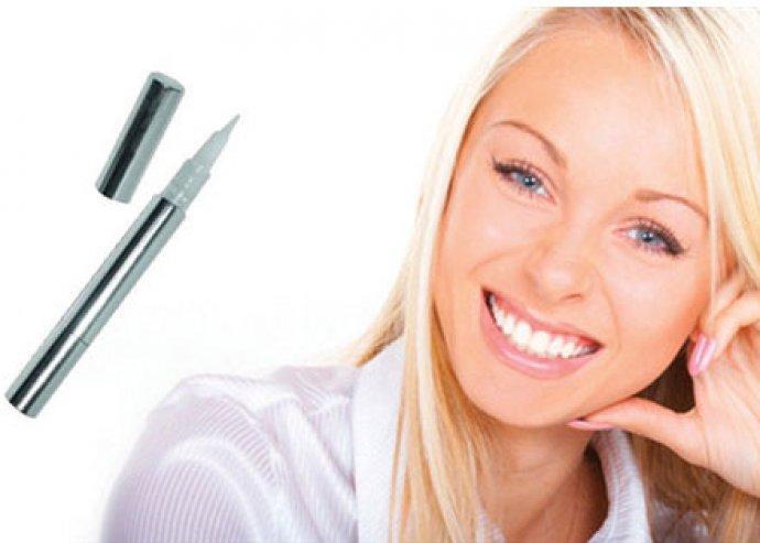 Vakítóan fehér fogak - teljesen biztonságos, nagyon hatékony és peroxidmentes fogfehérítő toll
