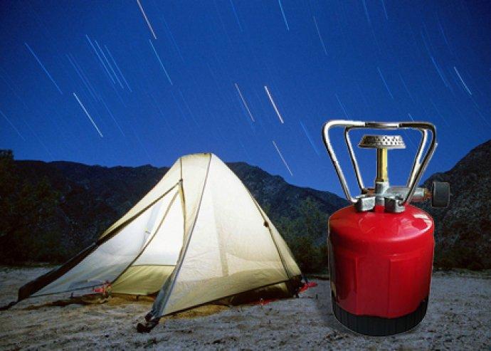 Praktikus, kényelmesen és biztonságosan üzemeltethető, hordozható kerti kemping gázfőző