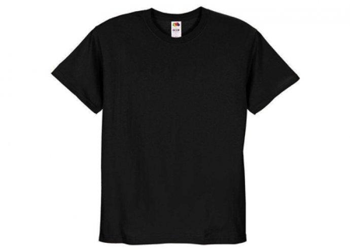 Fekete színű Fruit of the Loom férfi pamut póló több méretben!