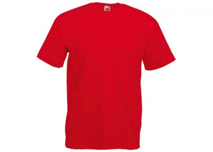 Piros színű Fruit of the Loom férfi pamut póló több méretben!