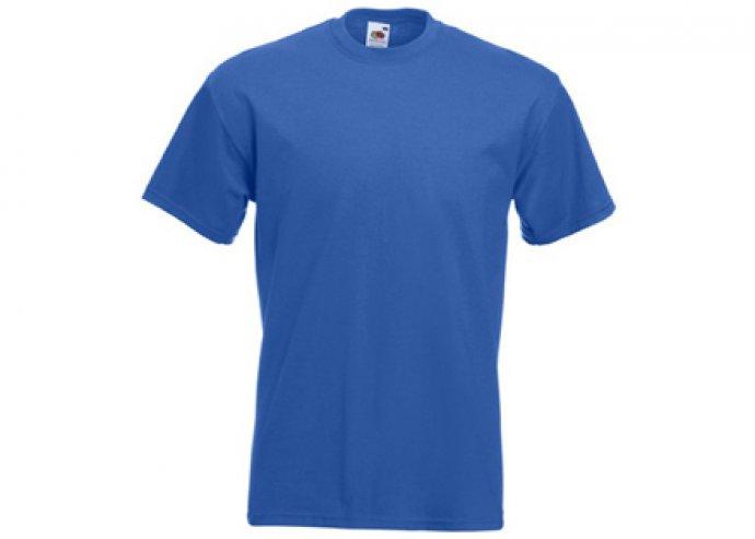 Kék színű Fruit of the Loom férfi pamut póló több méretben!