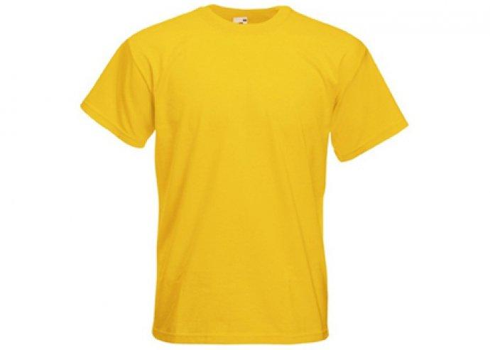 Sárga színű Fruit of the Loom férfi pamut póló több méretben!