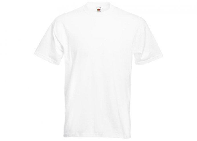 Fehér színű Fruit of the Loom férfi pamut póló több méretben!