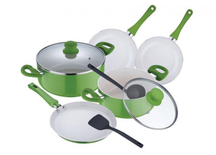 9 részes kerámia edénykészlet az egészségesebb ételekért és a játékos főzésért!