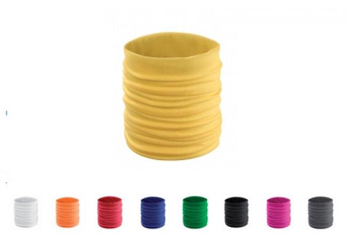 Multifunkciós körsál több színben, többféleképpen hordható, poliészter anyagból készült