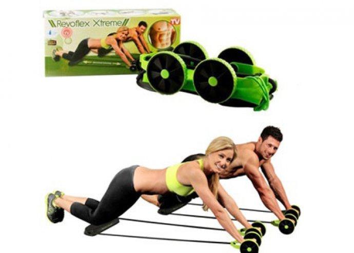 Revoflex Xtreme multifunkciós fitness gép, hordozótáskával és részletes képes edzéstervvel