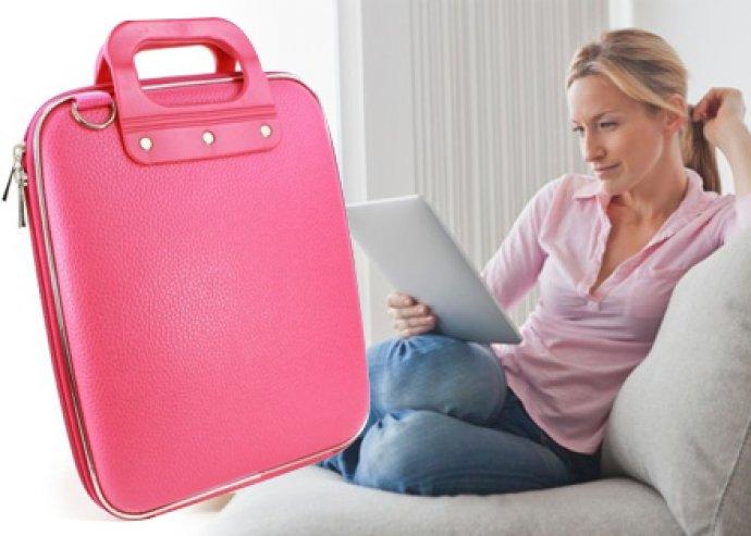 iPad/tablet tartó táska belső tároló zsebekkel és merev külső borítással, 7'-méretű tablethez, 3 féle színben