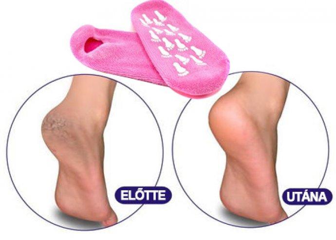 Gél zokni, a bársonyosan sima lábakért, természetes illóolajokkal, mosható, rózsaszínű, kellemes meleg viselet
