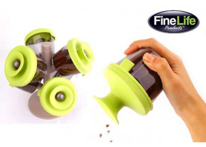 Fine life pop, 6 részes, designos fűszertartó, nagyon trendi, frissen tartó, UV fényvédővel