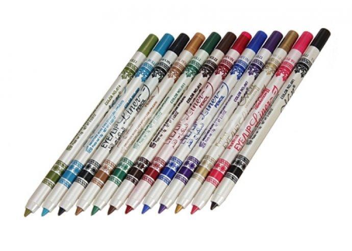 12 db-os vízálló szem- és szájkontúrceruza készlet, egy ceruza ára kevesebb, mint 300 forint