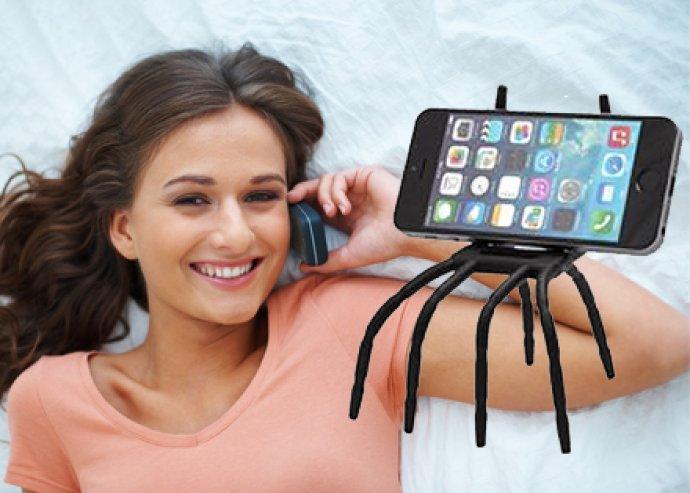 Univerzális rugalmas pók stílusú tartó telefonokhoz, szilárd védelem készülékednek, bárhogy hajlítható