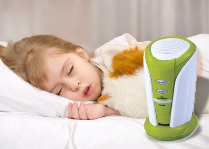Levegő ionizátor, semlegesíti a rossz szagokat, megöli az összes baktériumot, gátolja a penész képződését