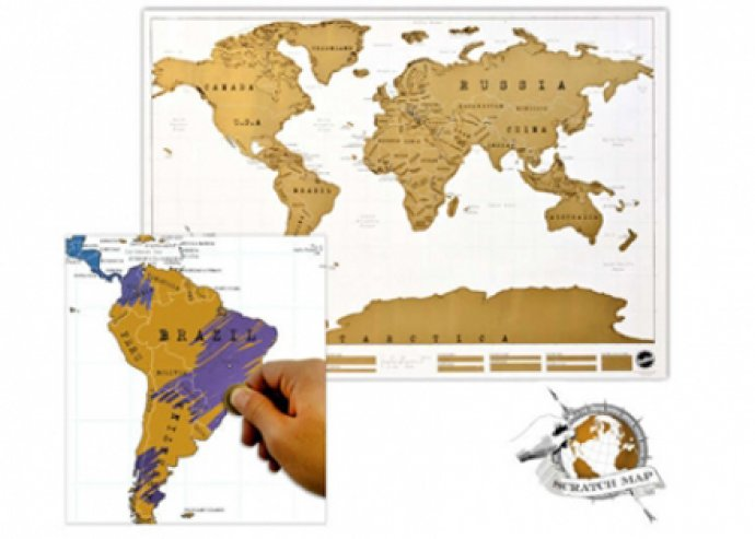 Egyedi, kaparós térkép világutazóknak – büszkélkedj a felfedezett helyekkel!